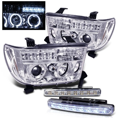 Amazon.com: 2007-2012 TOYOTA TUNDRA HALO PROJECTOR HEAD LIGHTS ... on tundra steering diagram, tundra wiring schematic, tundra speaker wire diagram,