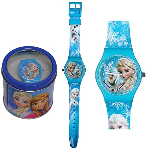 9 opinioni per Frozen orologio analogico polso scatola latta (Celeste)