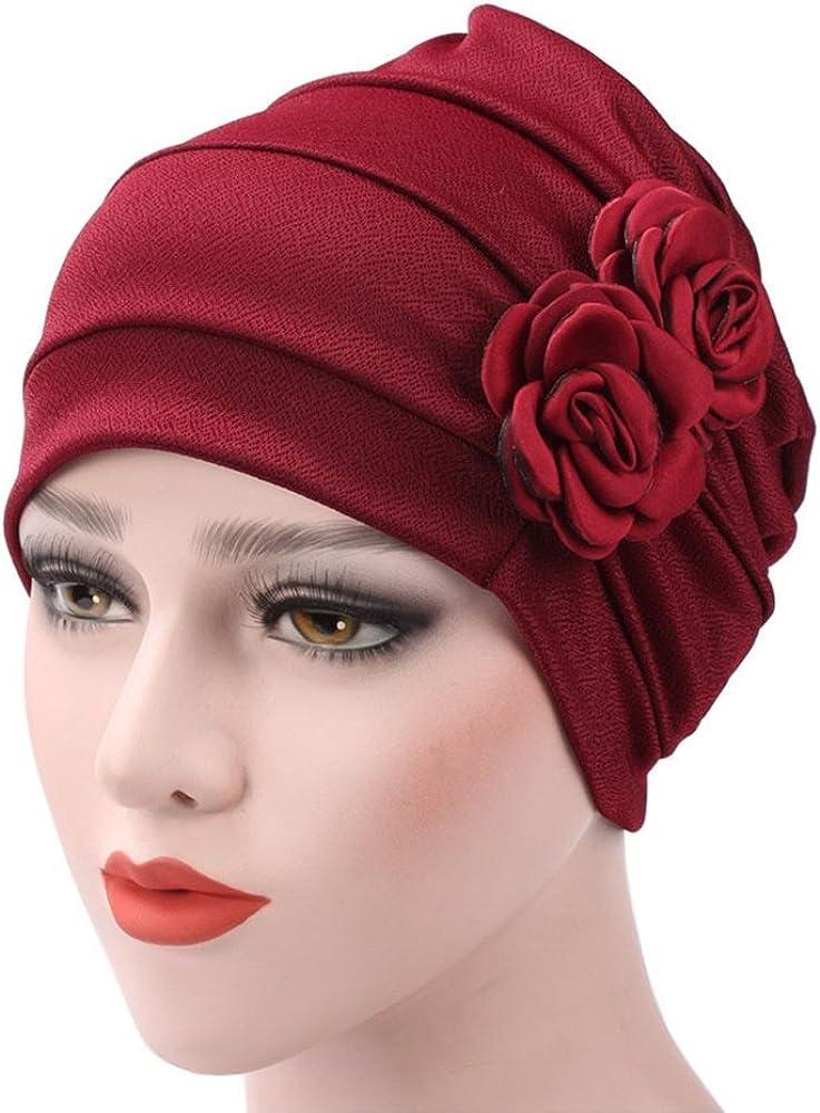 WETOO Damen Blume Muslim Turban Chemo Krebs Cap Kopftuch Kopfbedeckung