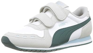 premium selection 1bee9 14873 Puma Cabana Racer SL V PS, Baskets Basses Mixte Enfant, Blanc (White-