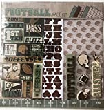 Football 12x12 inch Page Kit, 13 pcs, Paper, Stickers, Embellishments