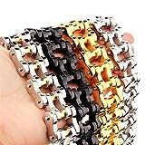 "Mens Stainless Steel 316L 9"" 22MM Wide Heavy Biker Motorcycle Chain Link Bracelet"