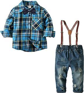 Nwada Bambini e Ragazzi Completi e Coordinati Abiti e Giacche Blazer Camicie e Giarrettiere Pantaloni Jeans Cravatta a Farfalla Set di Vestiti