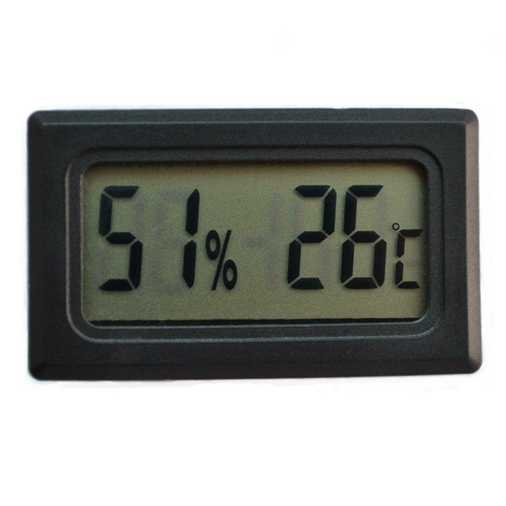 Ofanyia Mini Thermomètre & Hygromètre Numérique Intégré LCD Écran Thermomètre Intérieur Et Extérieurpour Pour Réservoir De Reptiles