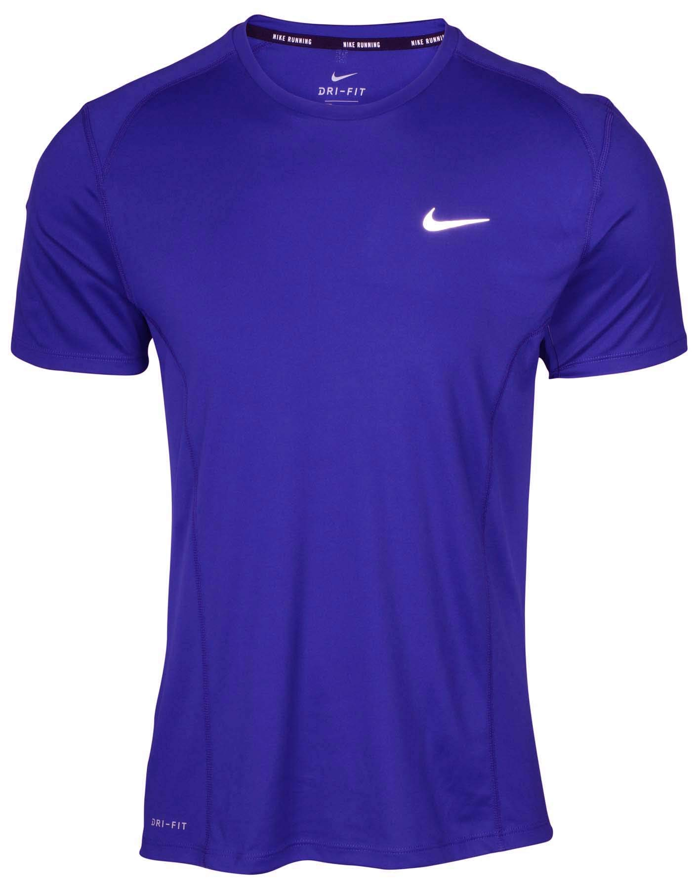Nike Men's Dri-Fit Miler Running Shirt-Game Royal-Small