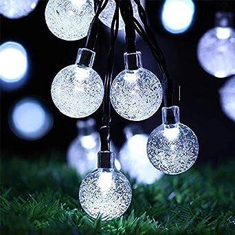 GNBHCP Luz de Navidad Cadena Luces, Linternas LED, Luces Solares De Jardín, Decoraciones De Fiesta En El Jardín, Navidad Impermeables Cadena Luces Multicolores 20 Luces (Color : White-30 lights): Amazon.es: Iluminación