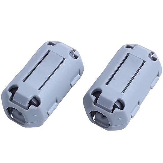 R UF70B Filtro De Ruido Ferrita Clip para 7mm Diametro Audio Vedio Cable 10 Piezas TOOGOO