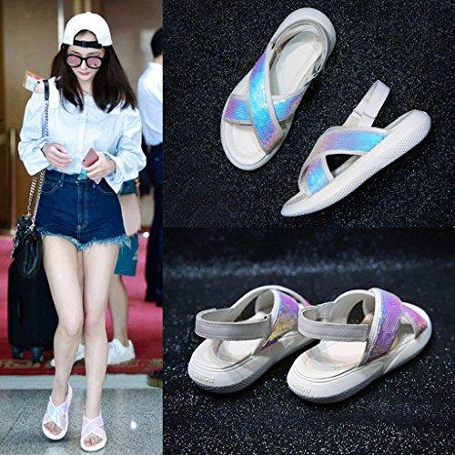 Cómoda Verano Moda Tamaño Sandalias Zapatillas Ligera Femenina y Zapatos 5 Mujer 5 80IIawx
