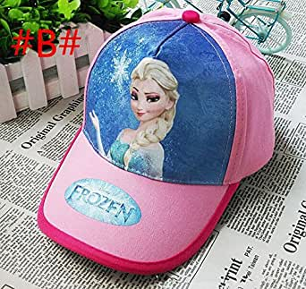 YHC Hot Kids Children Girls Frozen Cotton Sunny Baseball Cap Gorra Hat Sombrero Adjustable 3-8Years Colour Pink
