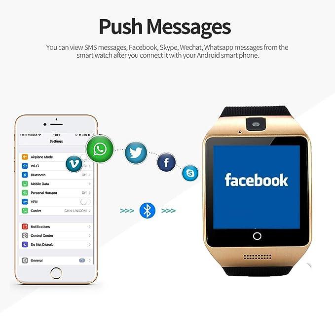 SEPVER Relojes Inteligente Smartwatch con Pantalla Táctil Soporte ...