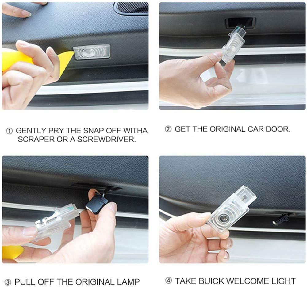 XIUJINGHONG 2 pezzi Portello di Automobile Benvenuto Fantasma Luce Illuminazione