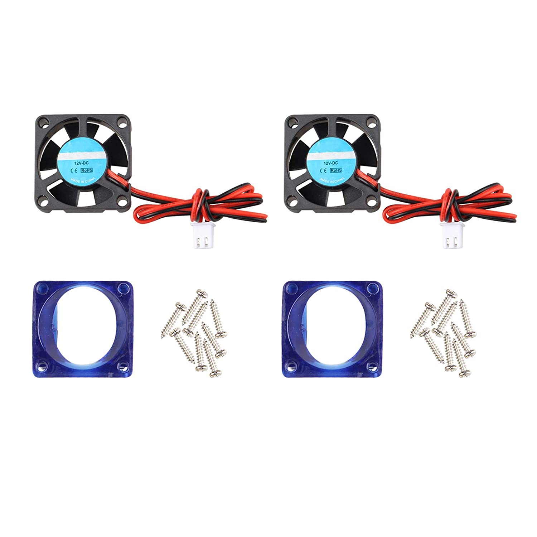 2 ventiladores de impresora 3D 12 V DC Mini silencioso ventilador ...