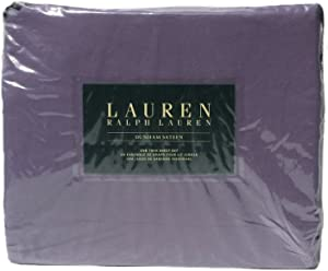 Lauren Ralph Lauren Lilac Purple Dunham Sateen Twin 3pc Sheet Set - 300 Thread Count