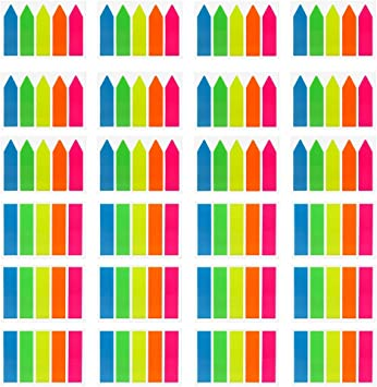 Neon Page Markers 560PCS Sticky Tabs Colored Index Tabs Flags Fluorescent Sticky Notes for Page Markers 4Sets