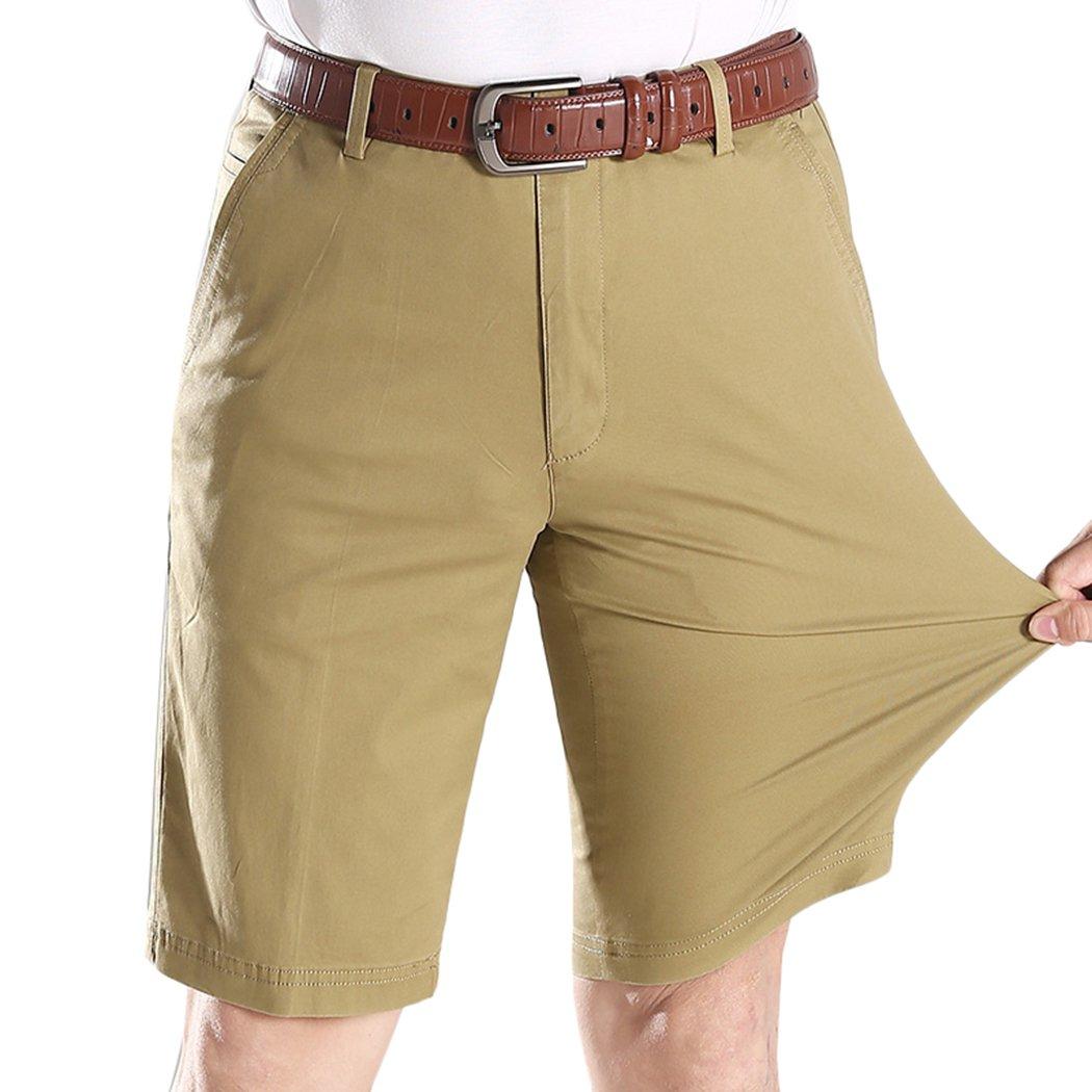 Lega Men's Relaxed Fit Stretch Twill Work Shorts(Khaki,US 36)