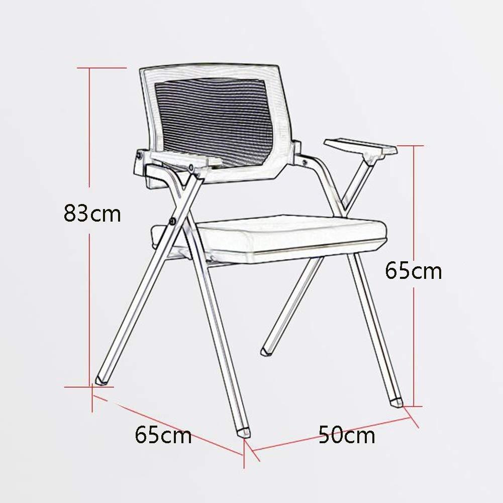 WLG Stuhl Schwarz gepolsterte Rückenlehne Pulverbeschichtetes Gestell Bürocomputer Stuhl Stapelstuhl Kreatives Zuhause,Schwarzer Rahmen