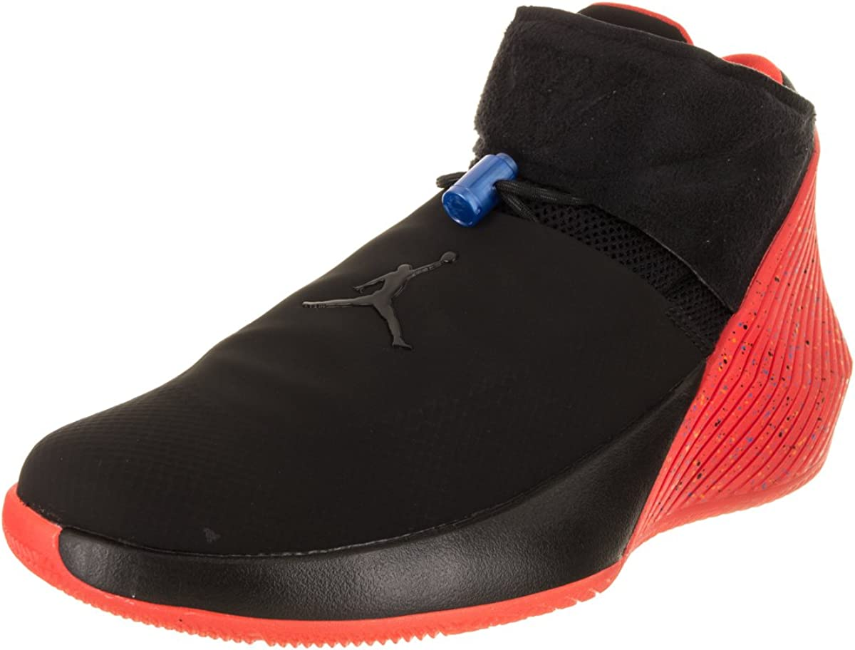 Jordan Why Not Zer 0.1 Basketball Men's Shoes (10.5, Black/Black-Signal Blue-Team Orange)