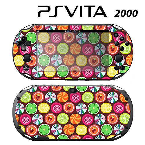 Skin Decal Cover Sticker for Sony PlayStation PS Vita Slim (PCH-2000) - Candy Clover Strawberry Fruit -  Decals Plus, PV2-PA10