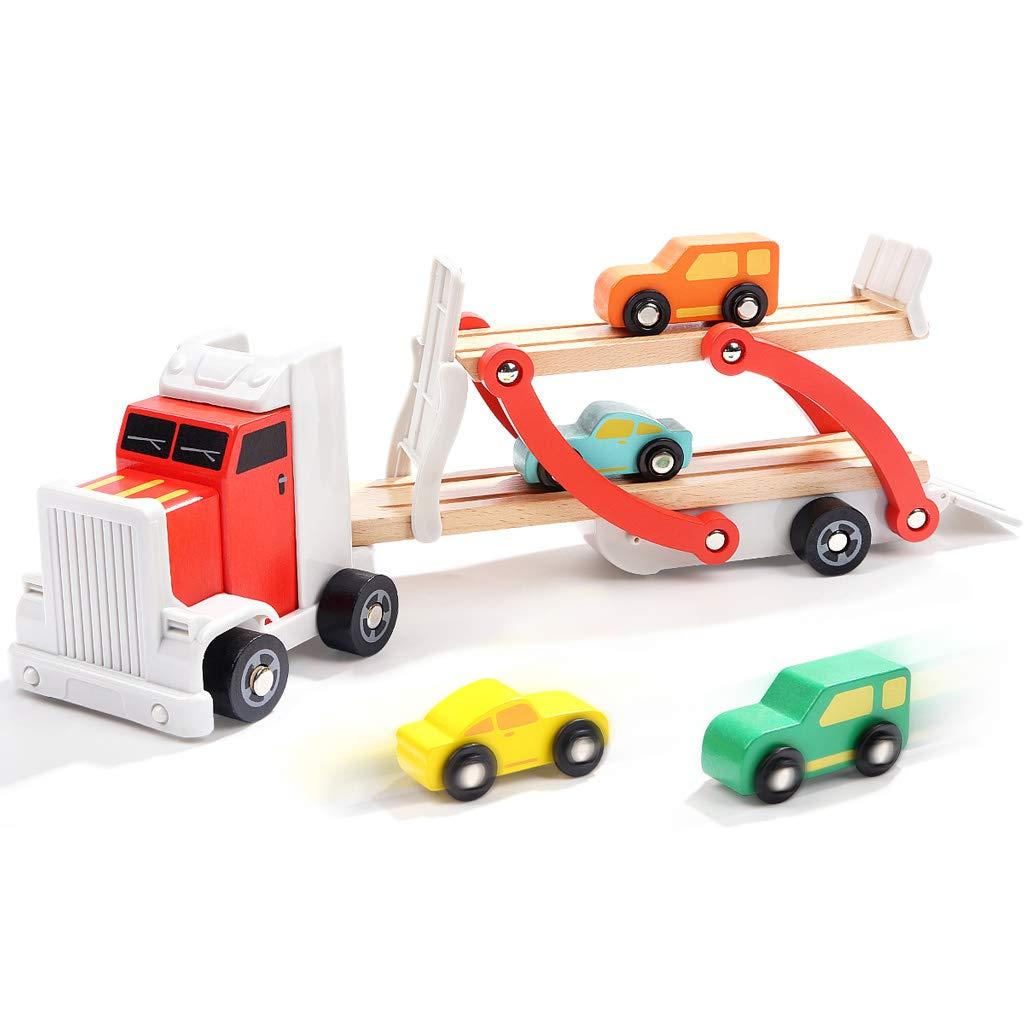ZaiQu Hölzerne Demontagemontage-Technik-Auto-Kinderpuzzle-Montagespielwaren 3-6 Jahre alt