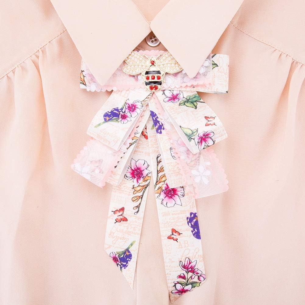 Yazilind Broche De No/ël Multi-Couche Gros-Grain Broche Femme Noeud Papillon Robe /À La Boutonni/ère T/ête Fleur Fille Accessoires