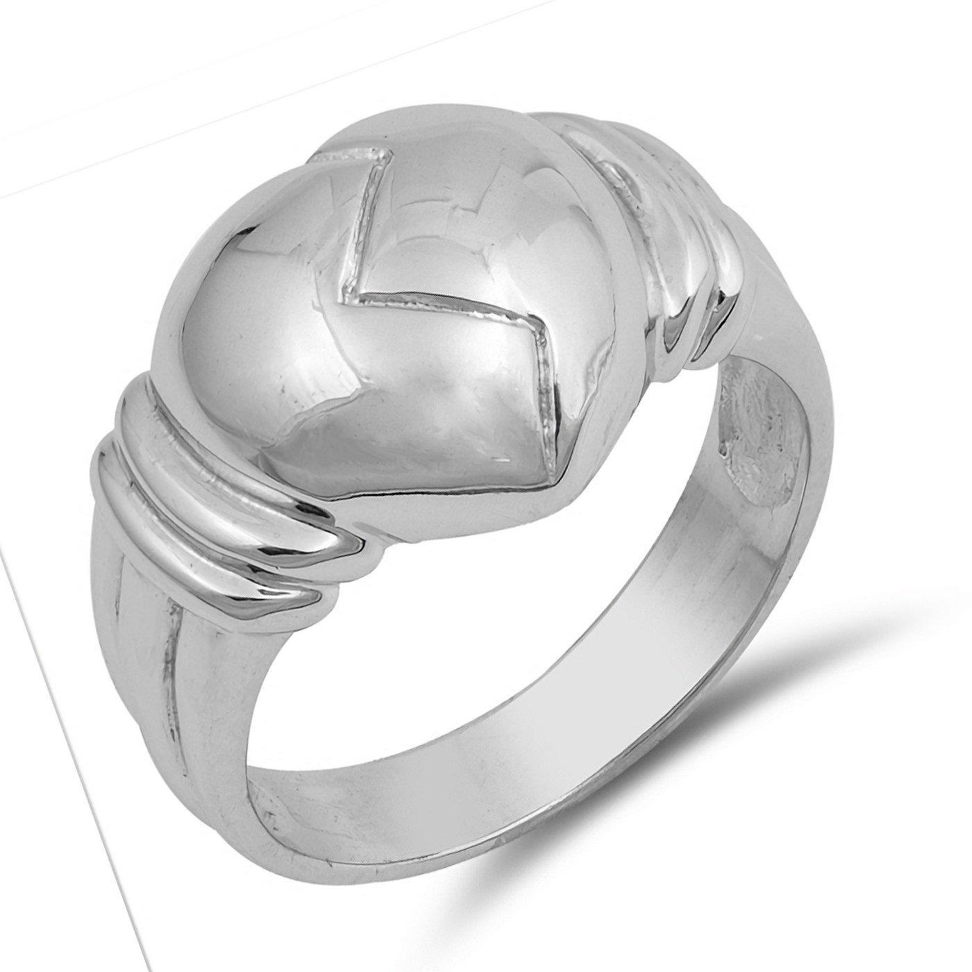 13mm Broken Heart Womens Ring 925 Sterling Silver Sizes 5-9