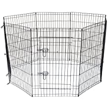 Cool Runners Wire Xpen with Gate (36-Inch Heightx24-Inch Width Per Section) 8 Sections (60-Inch Diameter)