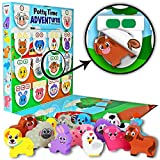 Lil ADVENTS Potty Time ADVENTures Potty Training Set - Chart, Activity Board, Reward Badge, Stickers, and Block Toys for Toilet Training - Farm Animals