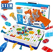 UNIH Stem Toys Toddler Building Educational Preschool Learning 3D Puzzles for Kids Gift