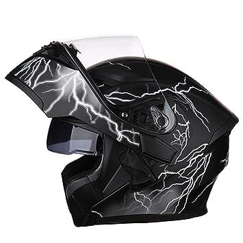 WEGCJU Casco Cascos De Moto Cascos Abatibles Moto Casco De Cara Completa Doble Visera De Sol