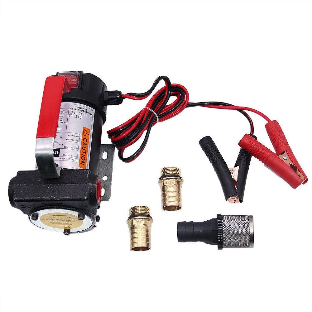 électrique Pompe à huile Diesel Pompe de transfert Fluide Extracteur pour Heavy Duty véhicule Truck 12V DC 40L/min OUBAYLEW