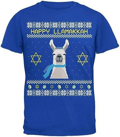 Llama Llamakkah Ugly Hanukkah Sweater Royal Adult Sweatshirt
