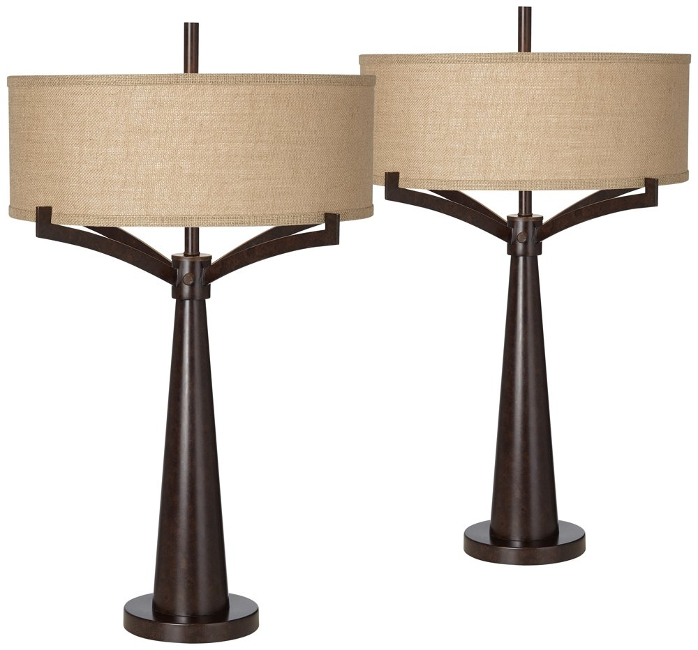 Tremont Bronze Iron Table Lamp Set of 2 by Franklin Iron Works