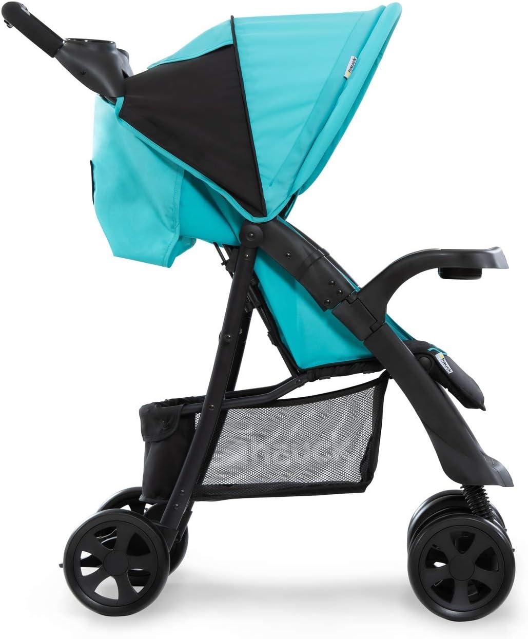 de 0 meses a 25 kg negro rojo Silla de paseo con respaldo reclinable plegable con una mano plegado f/ácil y compacto con botellero Hauck Shopper Neo II ligera