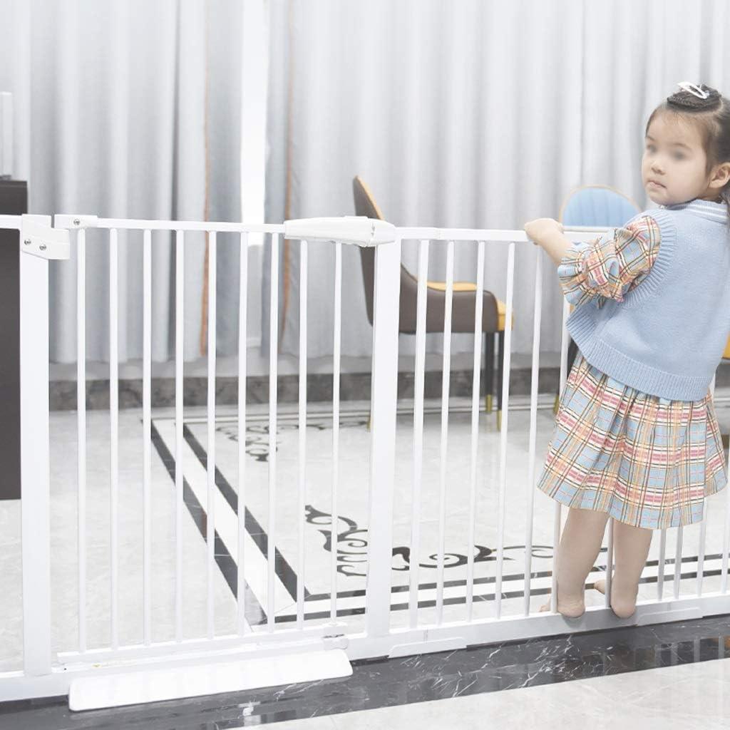 ペットゲート 犬猫のためにホワイトメタル室内セーフティゲイツエクストラワイド子供門ペットゲート出入り口階段廊下のために赤ちゃんのバリア (Color : Height 78cm, Size : 197-206.9cm)