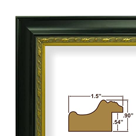 amazon com 10x28 picture poster frame ornate finish 1 5 wide