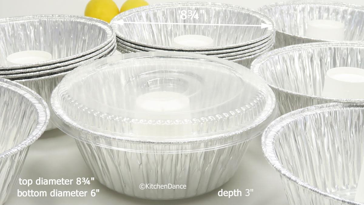 Disposable Aluminum Angel Food Pan with Clear Dome Snap on Lid #4060 (10)