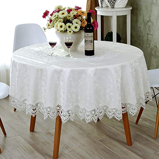 Hollow Dust-proof Wedding Dining Room Table Cloth Lace New Design
