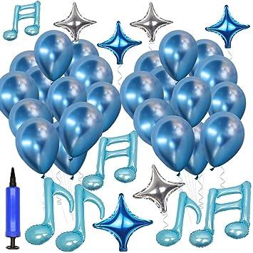 Globos Notas Musicales Decoración de Fiesta Cumpleaños ...