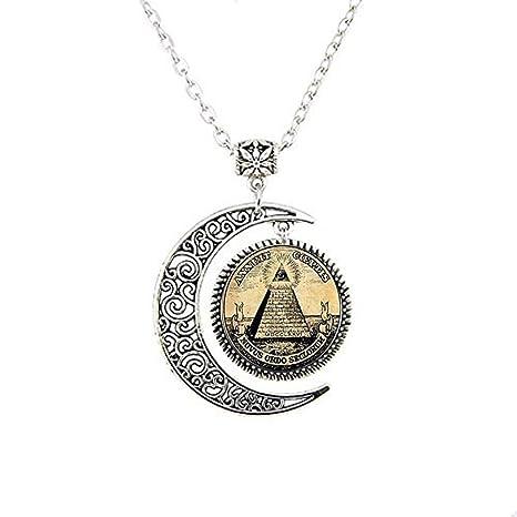 gran venta 45dca 05d1d Collar con colgante de cristal, diseño de símbolo vintage ...
