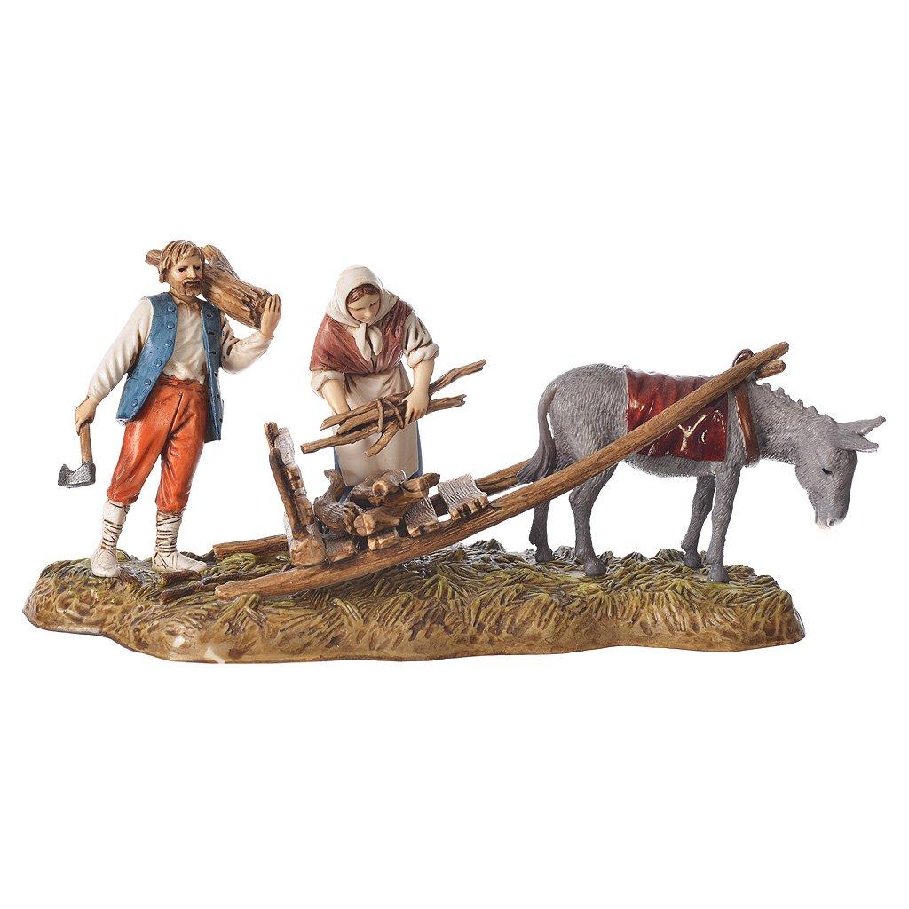 Holyart Scene of wood collection, nativity figurines, 10cm Moranduzzo