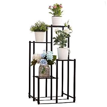 XZ15 Stand de Flores de Cuatro Pisos de Hierro Forjado de ...