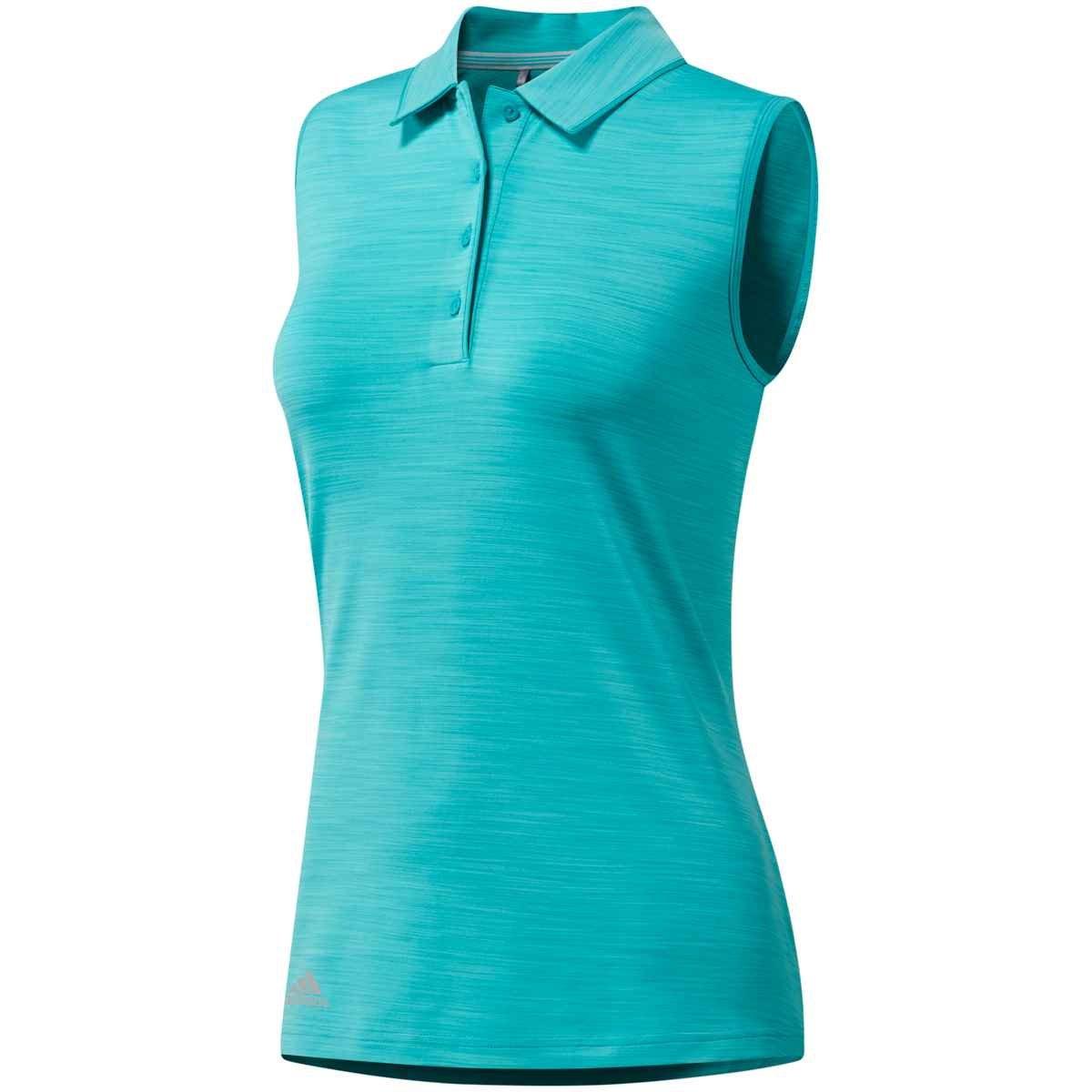adidas Ultimate 365 Sleeveless Golf Polo 2018 Women Hi Res Aqua Heather XX-Large
