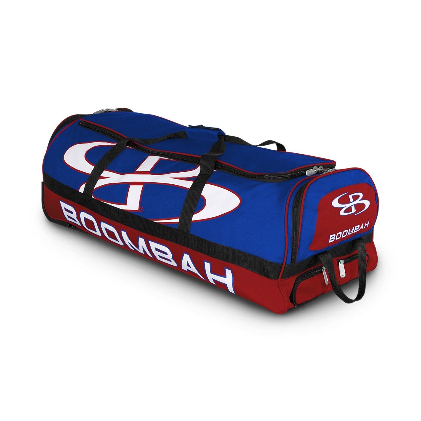 (ブームバー) Boombah Bruteシリーズ キャスター付きバットケース 野球ソフトボール用 35×15×12–1/2インチ 49色展開 4本のバットと用具を収納可能 B01MRMX1PP Red/Royal Red/Royal