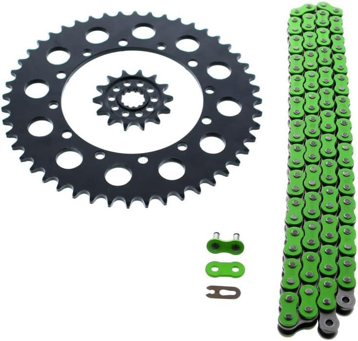 KX450F O Ring Chain /& Sprocket Black 14//47 114L Kawasaki KLX450R