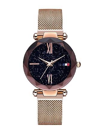 Mujer relojes ananas cielo estrellado marcar corte de diamantes malla  correas pulsera reloj imigen jpg 334x445 341517ed358f