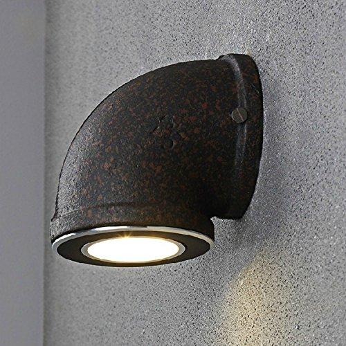 1 StiefelU LED Wandleuchte nach oben und unten Wandleuchten Die Wand Lampen Retro Restaurant Bar Village Road Industrial feng shui Wandleuchten, schwarz, großer Durchmesser 135 mm