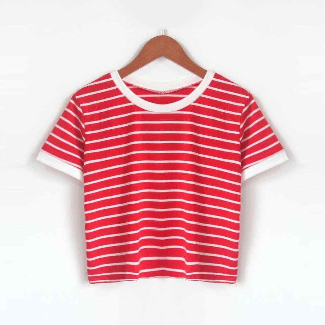 TUDUZ T-Shirt Damen Sommer Kurzarm O-Ausschnitt Rose Drucken Weste Tops Bluse