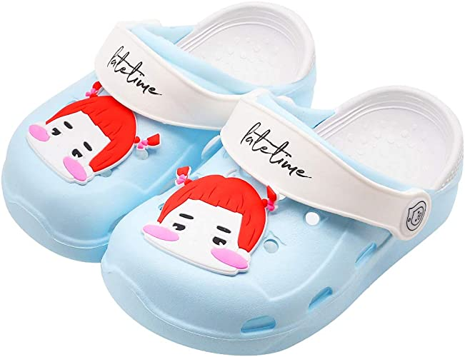 Girls Boys Cute Cartoon Clogs Sandals Toddler//Little Big Kids Slip On Slippers