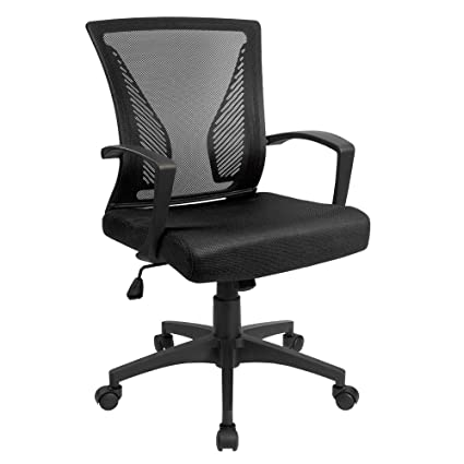 Charmant Devoko Mid Back Computer Office Swivel Desk Chair With Arms Height  Adjustable Ergonomic Task Mesh