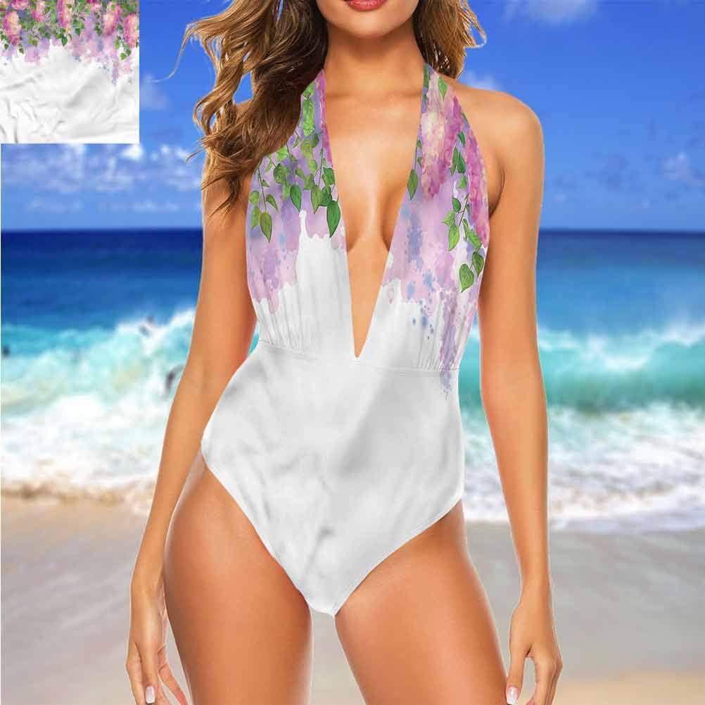 Ensemble de bikini taille moyenne Mauve, tendance à pois facile à régler et reste attaché Multi 24.
